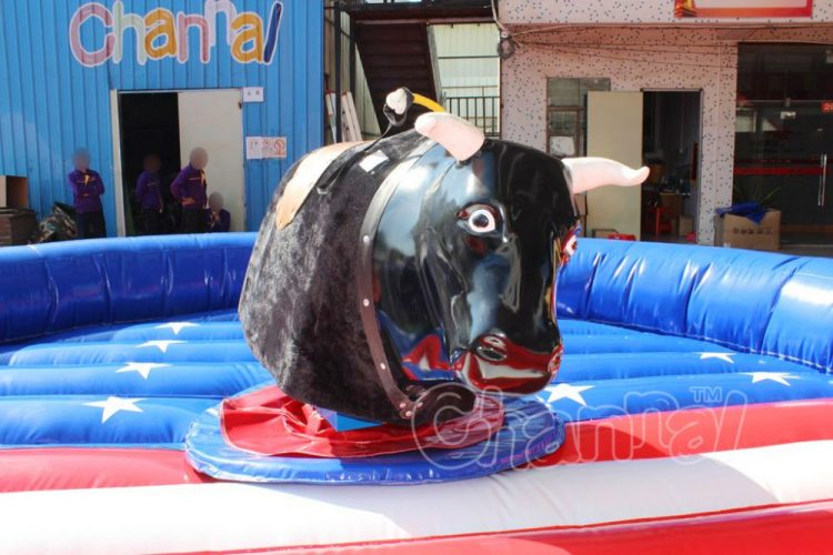 mechanical bull with horns