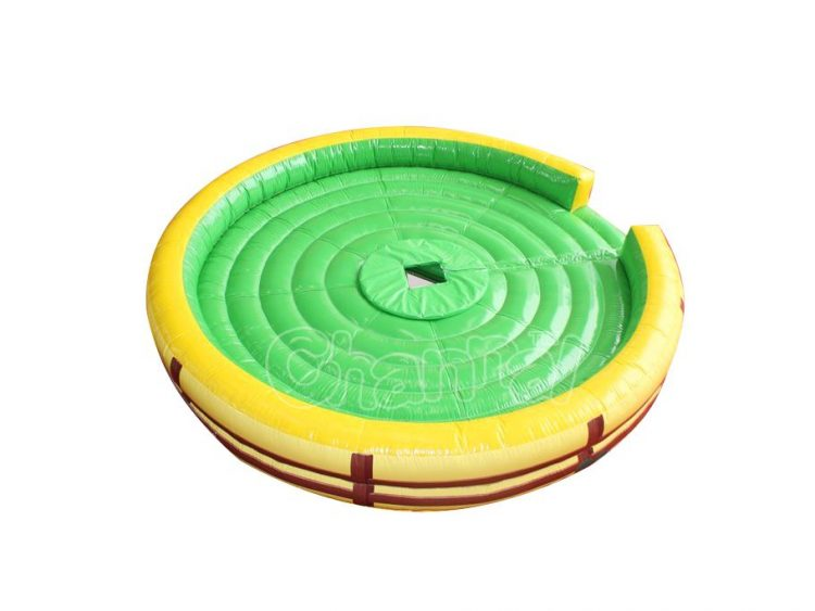 round inflatable bull bed