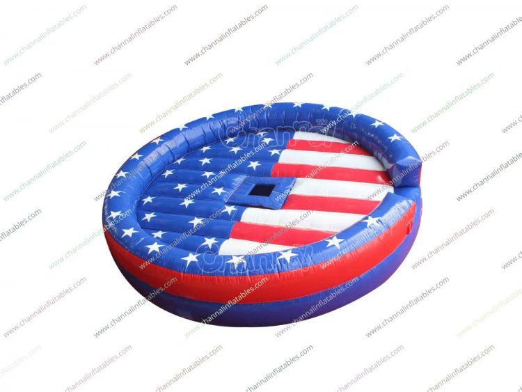 us flag mechanical bull mat