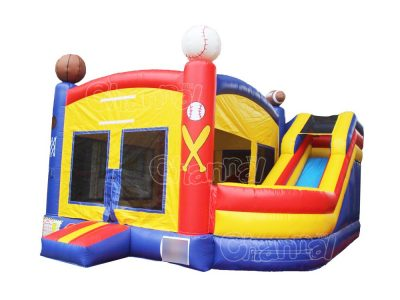 sports games inflatable combo