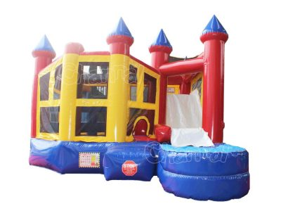 modular 5 in 1 water bounce house with slide