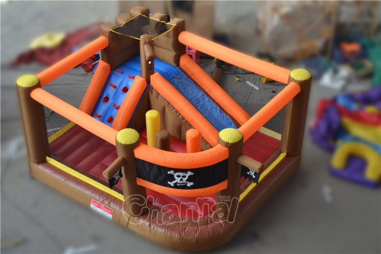 pirate ship inflatable nylon bouncer