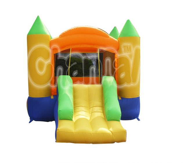 inflatable nylon bouncer with slide