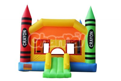 crayon inflatable nylon bouncer