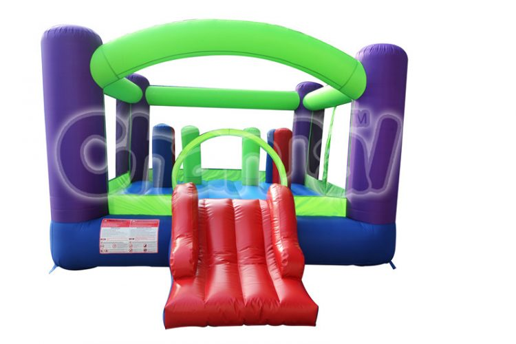 green blue inflatable nylon bouncer