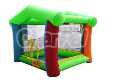 green inflatable nylon bounce house
