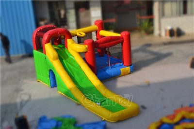inflatable nylon slide combo