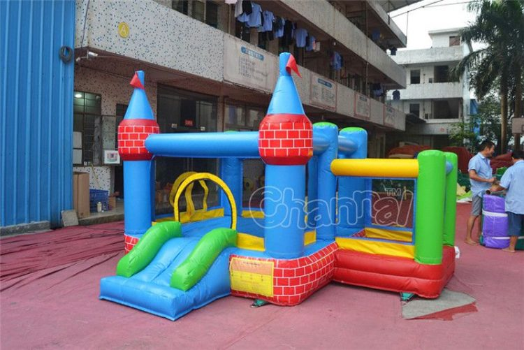 brick castle inflatable nylon combo