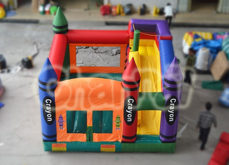 crayon castle inflatable nylon combo