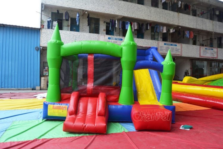green castle inflatable nylon combo