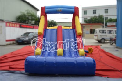 dual lanes slide inflatable nylon combo