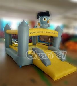 nylon slide bounce house for school and toddlers