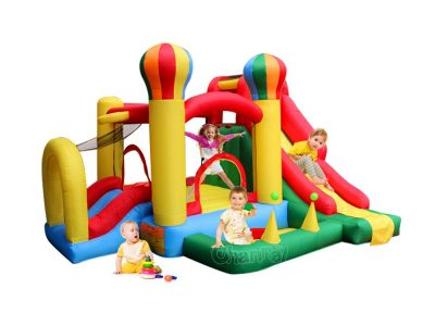 balloon castle residential bouncer slide combo for little kids