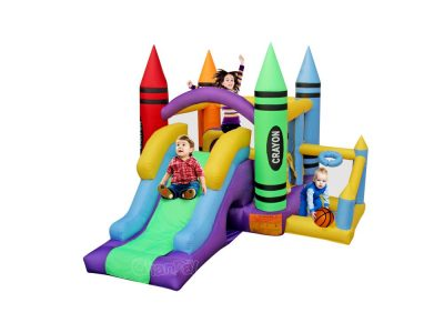 wholesale crayon theme home bounce house with ball pit for little kids and toddlers