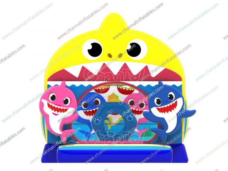 front side of baby shark bouncer