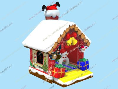 santa stuck in chimney bounce house