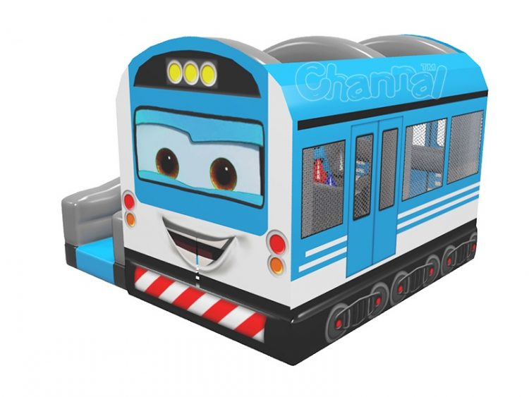train inflatable bouncer