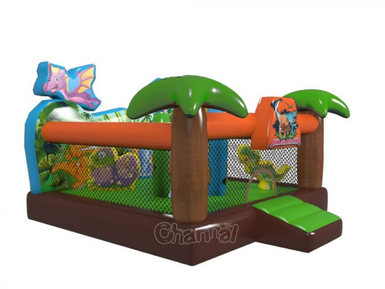 dinosaur inflatable jumper for little kids and toddlers