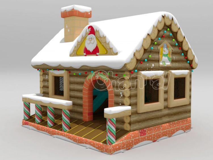 Christmas house inflatable bouncer