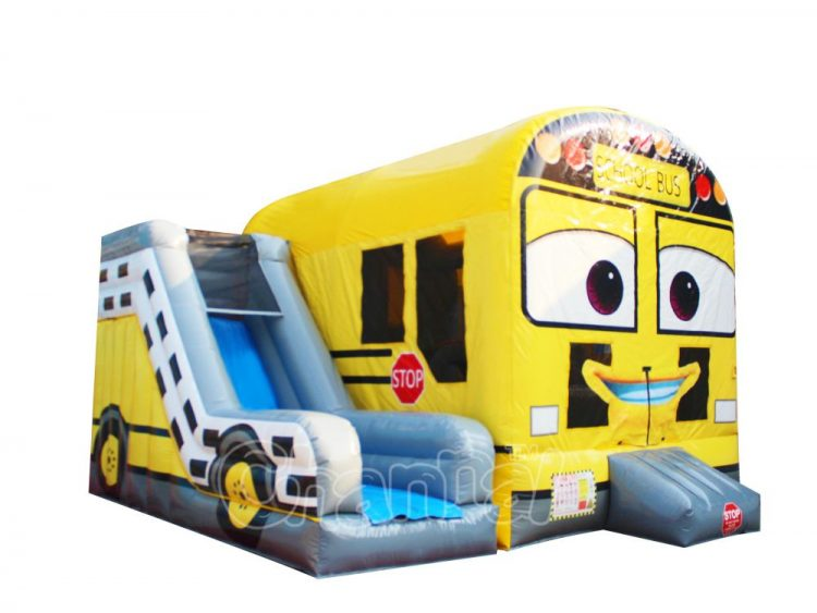 yellow bus inflatable bouncer