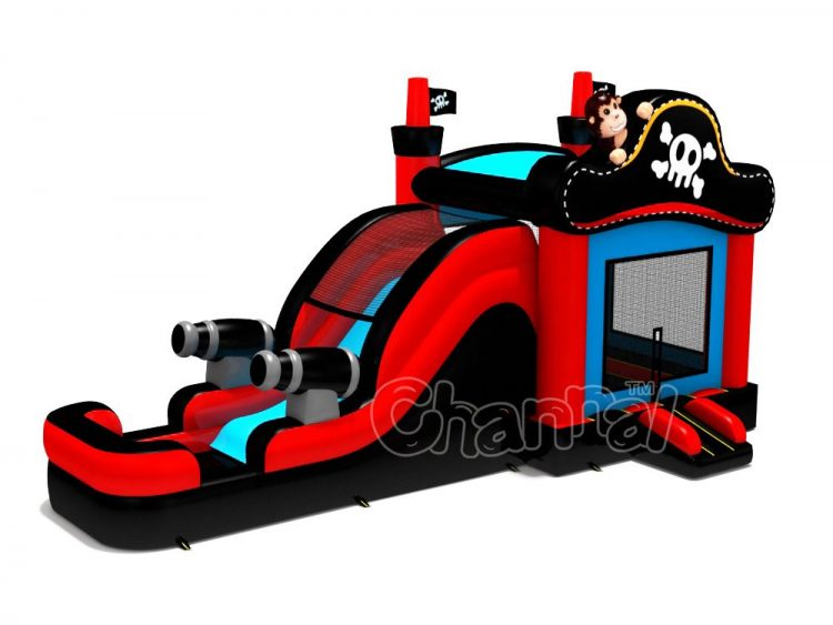 pirate water combo inflatable for kids