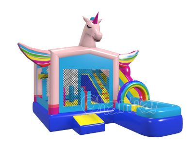 commercial grade inflatable unicorn wet combo for sale
