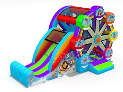 ferris wheel inflatable bounce house with slide