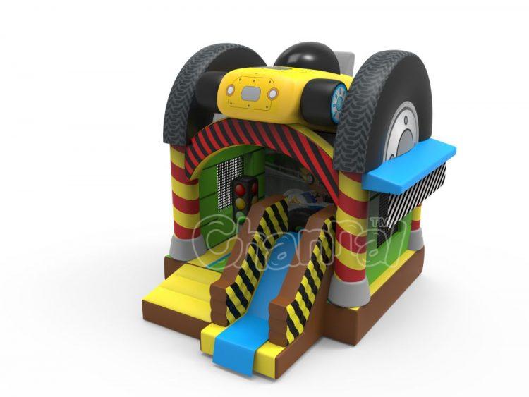 big wheels bounce house