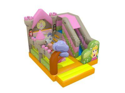 fairy tale princess bounce house with slide