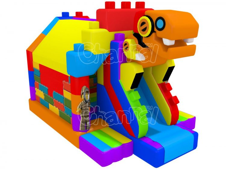 lego robot dinosaur inflatable combo