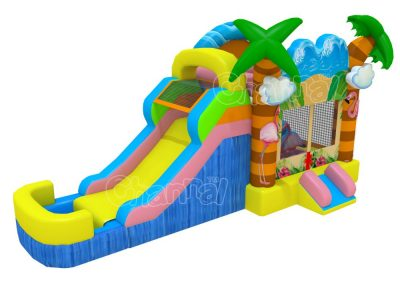 flamingo water bounce house