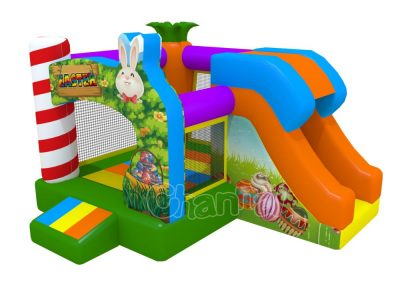 Easter theme kids bouncer with slide