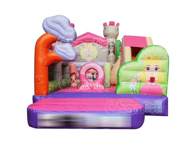 fairy tale princess bounce house with slide