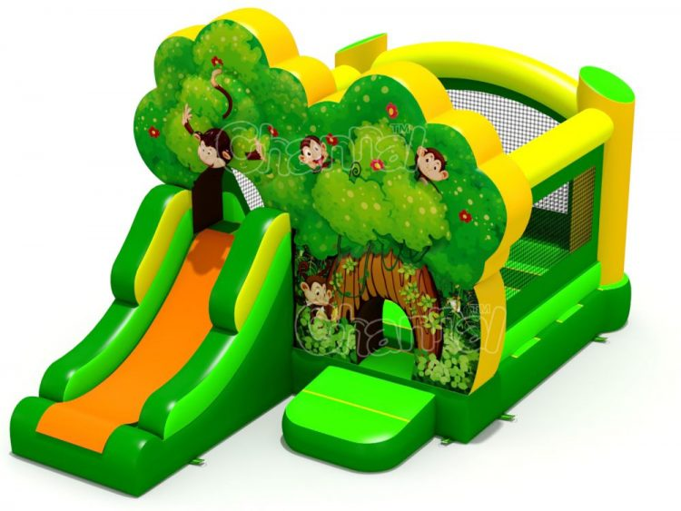 forest monkey inflatable combo