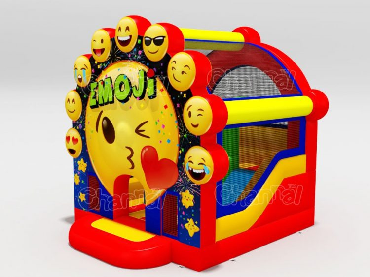 emoji bounce house combo with slide for kids