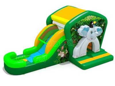 elephant in jungle theme water inflatable combo