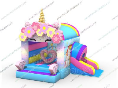 unicorn love bounce house combo