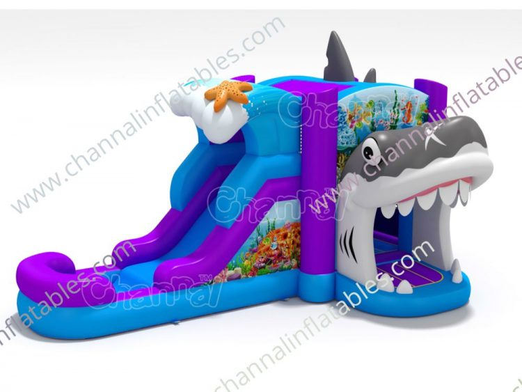 shark mouth water bounce house