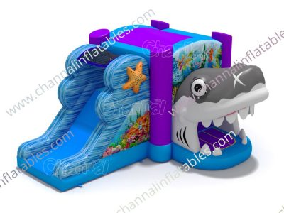 shark mouth inflatable combo