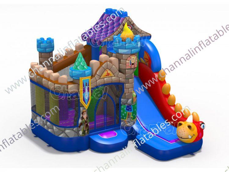 dragon castle inflatable castle (brown)
