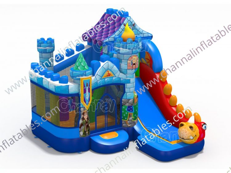 dragon castle inflatable combo