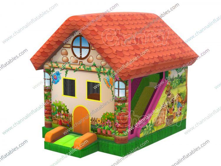 backyard theme inflatable bounce house