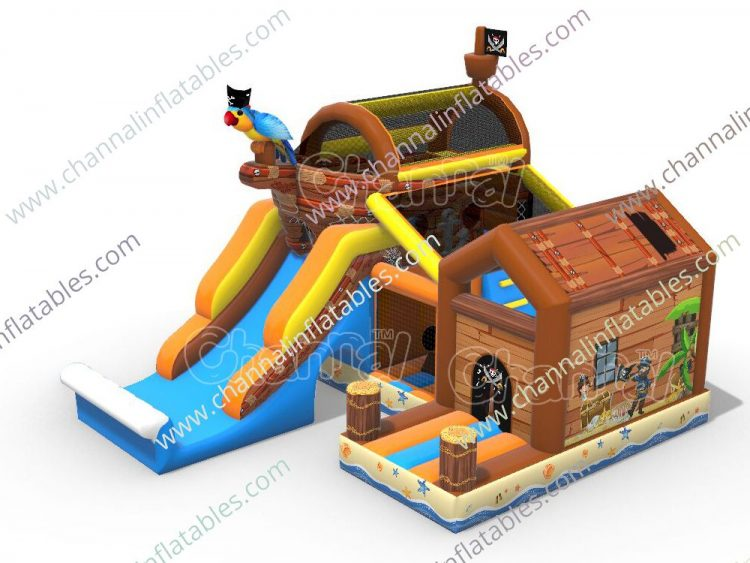 pirate hideout inflatable combo