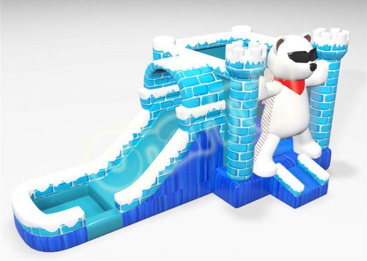 polar bear inflatable ice castle combo