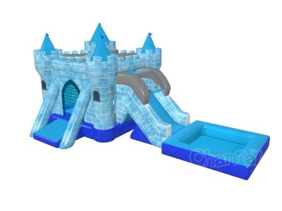 inflatable frozen castle water combo