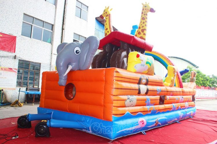 inflatable animals on noah's ark