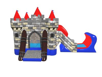 knight castle inflatable combo with slide