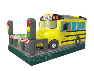 inflatable school bus combo for sale