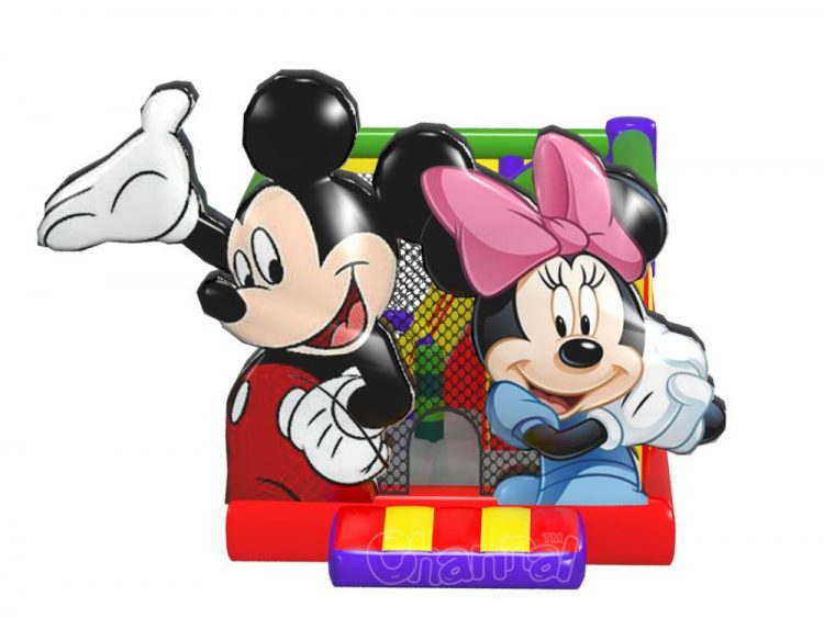 mickey minnie mouse inflatable moon bounce
