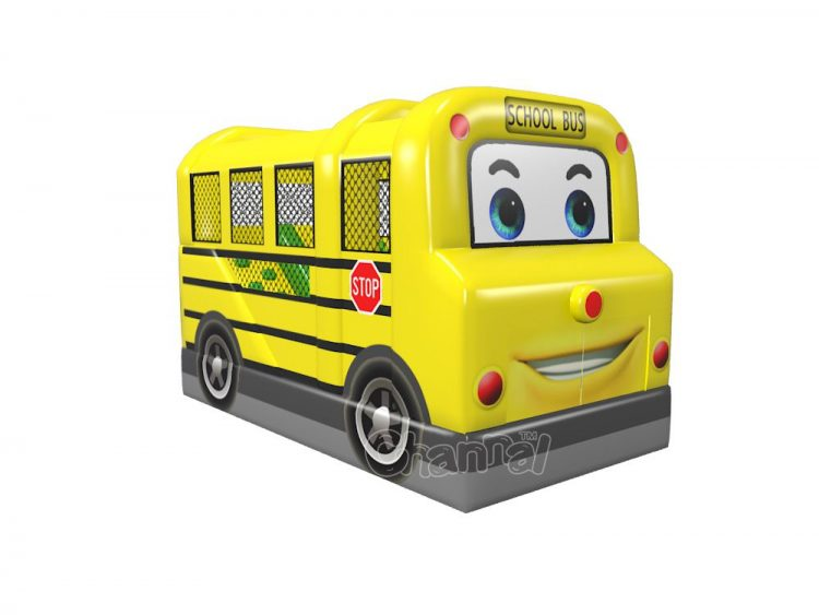 school bus moonwalk inflatable cheap